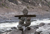 Little stone totem — Stock Photo