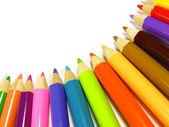 Rainbow of color pencils — Stock Photo