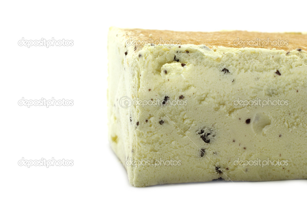 Ice cream block on the white background — Stock Photo #6376014