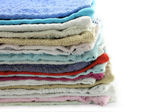 Heap of towels close-up — Stock Photo