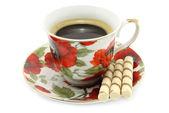 Tasse kaffee mit keksen — Stockfoto