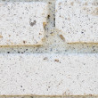 Royalty-Free Stock Photo: Old white brick wall close-up