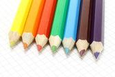 Velké barevné tužky na poznámkový blok — Stock fotografie