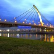 Stock Photo: TaChih Bridge at night in Taipei