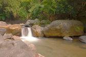 A cascade on rock falling into river — Stock Photo