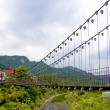 A suspension bridge — Stock Photo