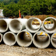Cement pipe — Stock Photo