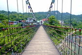 A suspension bridge — 图库照片