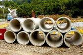 Tubo de cimento — Foto Stock