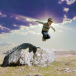 Jumping boy — Foto Stock