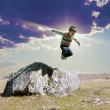 Jumping boy — Foto de Stock