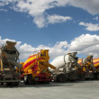 Stock Photo: Cement Trucks