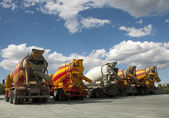 Cement Trucks — Stock Photo