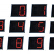 Luminated digital numbers. — 图库照片