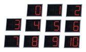 Luminated digital numbers. — Stock Photo