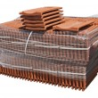 Stock Photo: Pile of roofing tiles packaged.