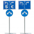 Crossroads Road Sign, Two Arrow. — Stock Photo