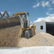 Excavator unload gravel — Stock Photo #6102583