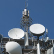 Transmitters, antennas and repeaters — Stock Photo