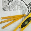 Sketch plan for construction - Stockfoto