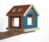 Wood colorful house toy — Stock Photo