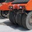 Asphalt rollers — Stock Photo
