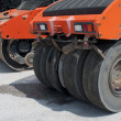 Asphalt rollers - Stock Photo