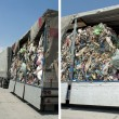 Truck charged with Recycling waste — Photo