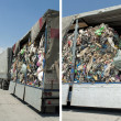 Truck charged with Recycling waste — Zdjęcie stockowe