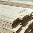 Timber. Planks and beams — Stock Photo
