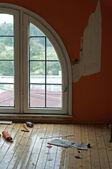 Empty room in renovation — Stock Photo
