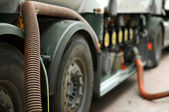 Fuel truck close up — Stock Photo
