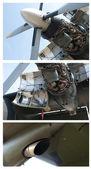Plane disassembled engine — Stock Photo
