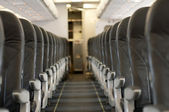 Interior an empty plane — Stock Photo