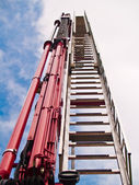 Ladder fire engine — Stock Photo