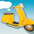 Beautiful vector scooter. — Stock Vector