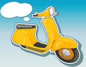 Beautiful vector scooter. — Stock Vector