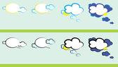 Weather talk. — Stock Vector
