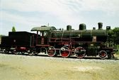 Vintage Turkish Steam Loco — Stock Photo