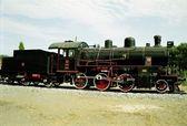 Vintage Turkish Steam Loco — Stock Photo