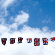 Celebratory Union Jack Flags — Stock Photo