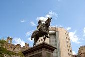 黑王子雕像 — 图库照片