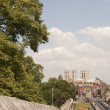 York Minster from City Walls — Stock Photo
