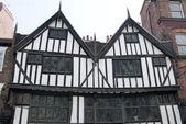 Tudor halve houten gebouwen — Stockfoto