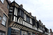 Blak and White Timbered Building — Stock Photo