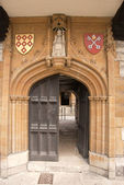 Medieval Carved Stone Doorway — Stock Photo