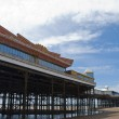 Central Pier Blackpool from beach - Stock Photo
