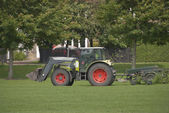 Tractor and Lawnmower2 — Stock Photo