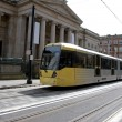 Tram and Old Gallery - Stock Photo