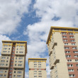 Three Yellow and Cream Council Flats — Stock Photo #6490147